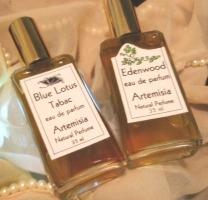 Artemisia Natural Perfume Blue Lotus Tabac & Edenwood fragrances