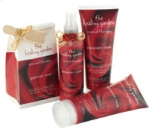 The Healing Garden Passion Rose scented body products