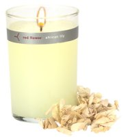 Red Flower African Lily candle