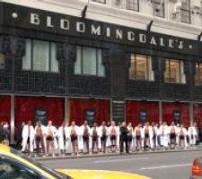 Men in bathrobes at Bloomies
