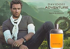 Ewan McGregor for Davidoff Adventure fragrance