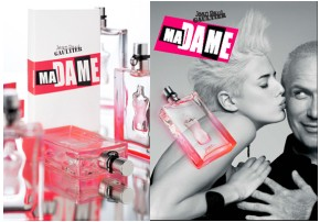 Jean Paul Gaultier Ma Dame fragrance, bottles & advert