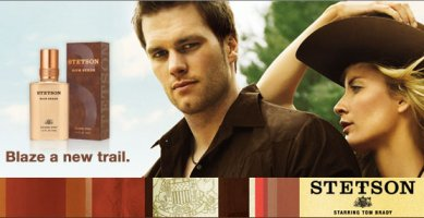 Stetson Rich Suede cologne w/ Tom Brady