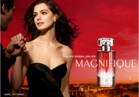 Lancome Magnifique fragrance for women, Anne Hathaway ad