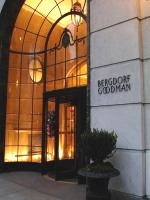 Bergdorf door at night
