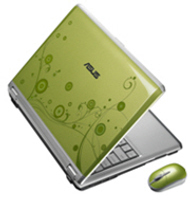Asus scented laptop, green