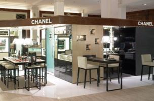 Chanel counter at Saks