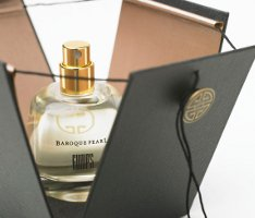 Gumps Baroque Pearl fragrance, outer packaging