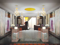 Interior of revamped Guerlain flagship store