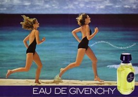 Eau de Givenchy double page advert