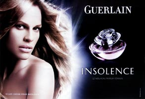 Guerlain Insolence advert with Hilary Swank