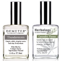 Demeter Thunderstorm & Cannabis Flower fragrances
