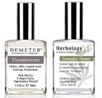 Demeter Thunderstorm & Cannabis Flower fragrances