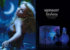 Britney Spears Midnight Fantasy perfume advert