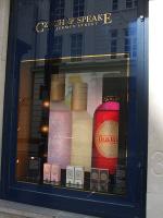 Detail, store window, Czech & Speake in London