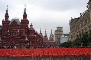 Kenzo poppies in Moscow