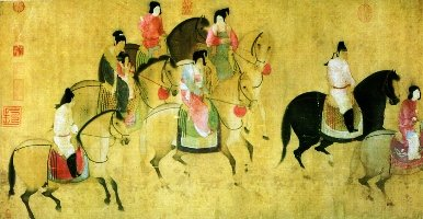 Zhang Xuan, Spring Outing of the Tang Court
