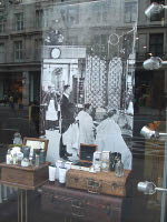 Penhaligon's on Regent Street, store window detail