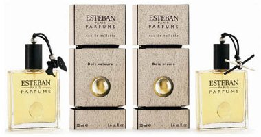 Esteban Bois Velours and Bois Plume fragrances