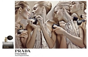 Prada L'Eau Ambree fragrance advert