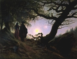 Caspar David Friedrich Man and Woman Contemplating the Moon