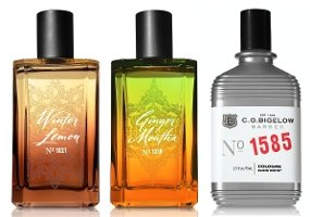 CO Bigelow Winter Lemon, Ginger Mentha & Elixir White fragrances