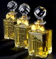 Grossmith Phul-Nana, Shem-el-Nessim and Hasu-no-Hana in Baccarat crystal