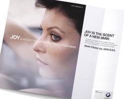 BMW autoshow car with scent strip