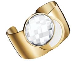 Sarah Jessica Parker SJP NYC solid perfume cuff bracelet