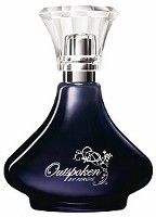 Fergie Outspoken perfume for Avon, fragrance bottle