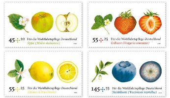 Fruit scented stamps, Germany