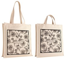 Miller Harris cotton canvas bags