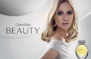 Calvin Klein Beauty advert with Diane Kruger