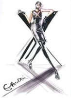 Jean Paul Gaultier, sketch for Fall Winter 2009 Ready-to-Wear collection