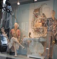 Etro London boutique, window detail