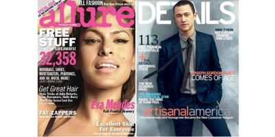 Allure and Details magazine covers