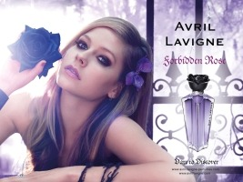 Avril Lavigne Forbidden Rose perfume advert
