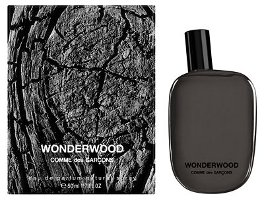 Comme des Garçons Wonderwood fragrance packaging
