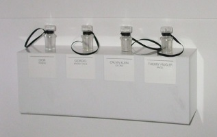 Sniffing vials, the Perfume Diaries exhibit