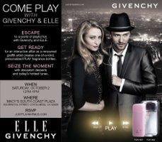 Invitation, Givenchy & Elle