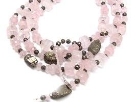 Olivier Durbano rose quartz necklace
