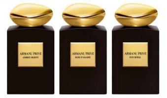 Ambre Orient, Rose d'Arabie and Oud Royal perfumes, Giorgio Armani