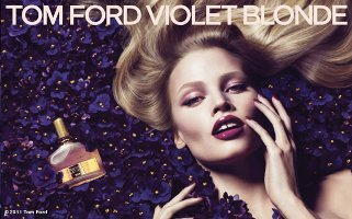 Tom Ford Violet Blonde advert with Lara Stone