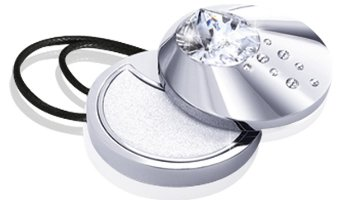 Swarovski Aura Crystal Drops Sparkling Solid Perfume Jewel