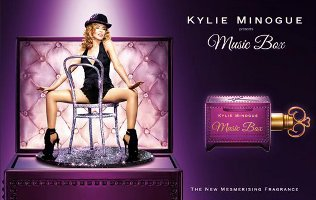 Kylie Minogue Music Box perfume advert