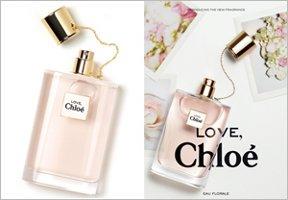 Love, Chloe Eau Florale fragrance advert & bottle