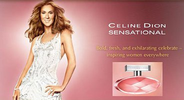 Celine Dion Sensational fragrance advert