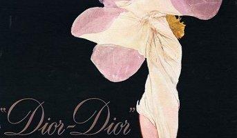 Rene Gruau Dior-Dior advert, detail