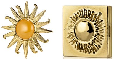 Estee Lauder Radiant Sun & Antique Sun solid perfume compacts