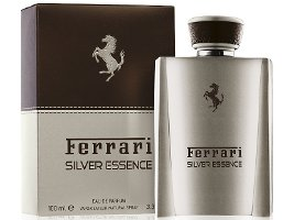 Ferrari Silver Essence fragrance packaging